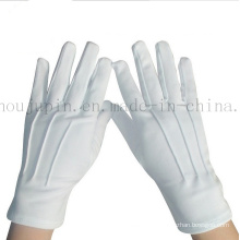 OEM Polyester Soft Doorman Black White Etiquette Gloves